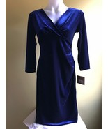 Ellen Tracy Women Velvet Dress Black and Blue Size S  - $29.00