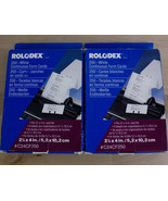 """Lot of 2 Rolodex White Continuous Form Cards C24CF250  2 1/4 x 4"""" for Ca... - $12.73"""
