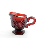 Footed Creamer w/Candle, AVON 1876 Cape Cod Collection, Cranberry Glass,... - $12.69
