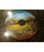 "1984 Hand Painted 9.75"" Saw Blade Folk Art Log Cabin Car Country Scene S... - $46.10"