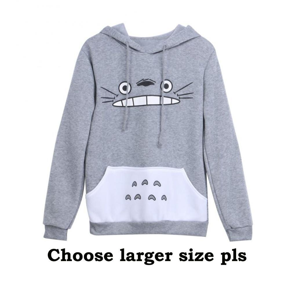 Men Women Cartoon Totoro Hoodie Unisex Pullover Sweatshirt S-XL Size