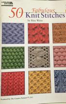 Leisure Arts 50 Fabulous Knit Stitches 4280 Rita Weiss Patterns Book - $16.63