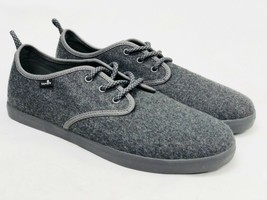 Sanuk Guide TX Lace Up Loafers 1014122 GREY GRAY WOOL Slip On MenS Shoes 1014122 - $39.99