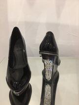 5 Shoes 13cm Black Tall Wedge Platform Bling Siren rhinestones Crystals Size HBInUw