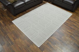 PREMIUM 3D Hand Carved Modern Abstract 5x8 5x7 Rug Contemporary 5881 Gray Grey - $119.00