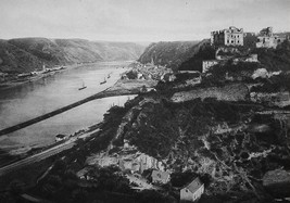 GERMANY St. Goar & St. Goarshausen on Rhine River - 1920s Photogravure P... - $6.84