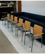 UPCYCLED 6 Steelcase DECK Arm Chairs in Maharam Agency 466001 002 Unique - $820.80