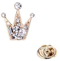 2 Pcs Brooch Badges Men&Women Shirt Collar Deduction Crown Brooch Collar