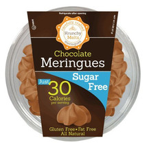 Krunchy Melts Sugar Free Chocolate Meringues Cookies 2 oz Tubs - Single ... - $13.21