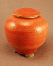 RAKU Unique Ceramic Companion Small/ Keepsake Funeral Cremation Urn #I003 - $149.00