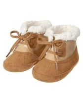 Gymboree Snow Cozy Brown Crib Boots Sherpa-Lined Shoes Baby Boy Size 01 NEW - $505,63 MXN