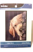 Bucilla I Didn't Do It Dog Puppy Counted Cross Stitch WM45699 5x7 in  - $7.69