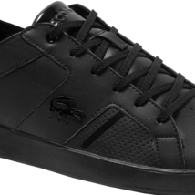 Lacoste Men's Casual Novas 120 3 SMA Athletic Shoes Leather Black Sneaker image 5
