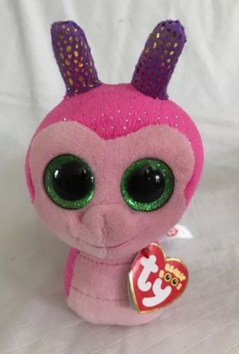 """Ty Beanie Boos 6/"""" SCOOTER the Snail Plush Stuffed Animal Toy MWMTs Heart Tags"""