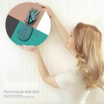 Modern Pineapple Acrylic Wall Clock Stitching Color Fruit Vegan Gift Hom... - $39.25+
