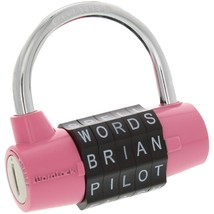 Wordlock 5-dial Combination Padlock (pink) HBCLPL001PK - $16.04