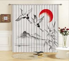 3D Painting Crane 301 Blockout Photo Curtain Print Curtains Drapes US Lemon - $177.64+