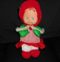 VINTAGE FISHER PRICE 1992 CHRISTMAS KIDS DOLL PUFFALUMP NYLON STUFFED PL... - $45.82