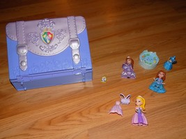 Disney Sofia the First Classroom Carry Case Portable Playset with 4 Mini Dolls  - $24.00