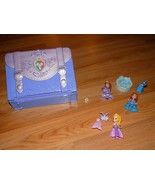 Disney Sofia the First Classroom Carry Case Portable Playset with 4 Mini... - $24.00