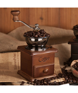 Classical Wooden Mini Manual Coffee Grinder Retro Spice Mill With High-q... - $39.95