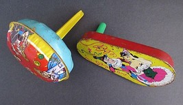 2 Lot Vintage Tin Litho Noise Maker Party Favor 1950's Twister & Shaker - $12.50