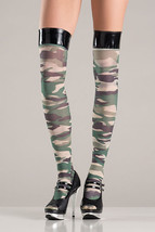 BW-750 Sexy Gogo Dancer Outfit Camouflage Thigh High Stockings Halloween... - $7.47