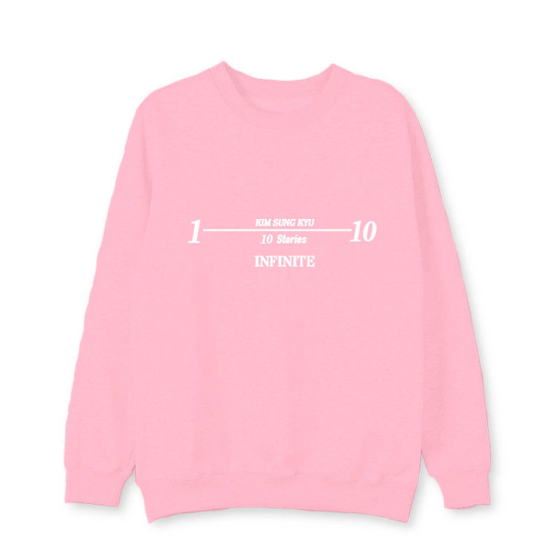 KPOP INFINITE Kim SungGyu Sweater 10 STORIES Ablum Pullover Casual Letter Tops