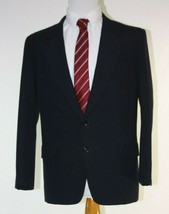 Hand Made Mens Suit 40R Black Striped  - $42.52