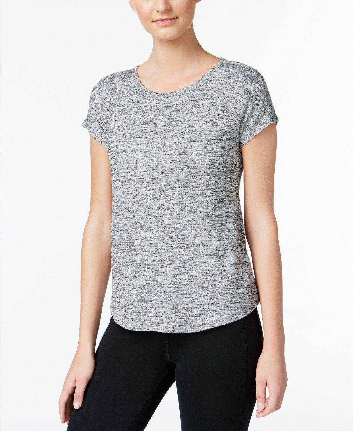 Primary image for Calvin Klein Womens Performance Marled Keyhole Back Top Grey Size XXL $49 - NWT