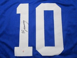 ELI MANNING / AUTOGRAPHED NEW YORK GIANTS BLUE CUSTOM FOOTBALL JERSEY / COA image 3