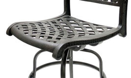 Patio Bar Stool Set of 2 Swivel Outdoor Furniture Cast Aluminum Sunbrella Seat image 5