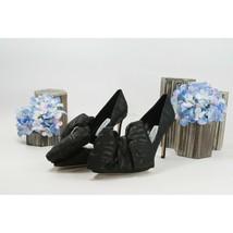 Jimmy Choo Off-White Black Runway Mary 100MM High Heel Pump Shoes 37.5 NIB - $416.12