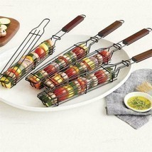 Portable Bbq Grilling Basket Stainless Steel Nonstick Barbecue Grill Bas... - $14.39+