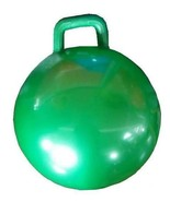 GREEN GIANT RIDE ON HOP BOUNCE BALL WITH HANDLE hopping rideon kids toy ... - $9.45