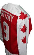 Wayne Gretzky Vaughan Nationals Retro Hockey Jersey New Red Any Size image 4