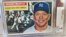 1956 Topps Mickey Mantle New York Yankees #135 Baseball Card - $602.91