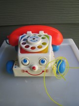 1985 Vintage Fisher Price Chatter Phone Rotary Telephone Pull Toy # 747 - $15.88