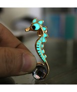 Women Ear Cuff Earrings Glow In The Dark Sea Horse Pattern Push Back Clo... - $8.90