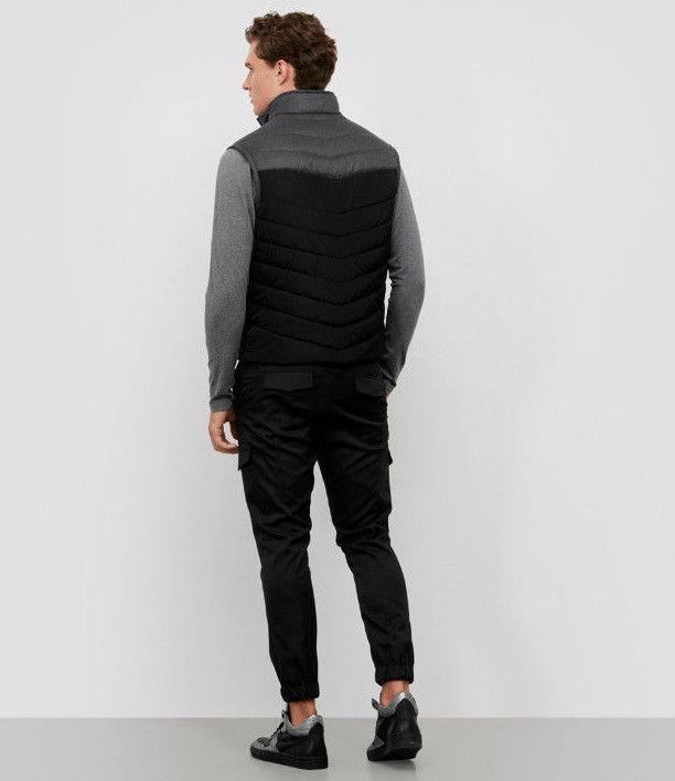 REACTION KENNETH COLE Color Block Puffer Vest, Black Combo, Size XL image 4