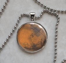 Mars Red Planet Science Astronomy Pendant Necklace - $13.00+