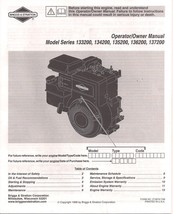 Briggs And Stratton Owner Manual Models 110400 111400 113400 120400 1214... - $9.99