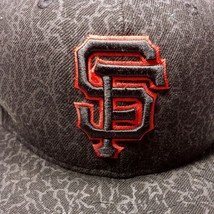 SF Giants New Era Fitted Hat Black Red Baseball Cap Size 7 1/4 59Fifty - $43.99