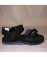 Black Purple Hook loop  Strapped Outdoors Sandals sz 6.5W US by Explorer - $28.70