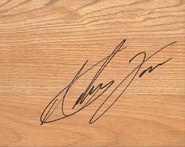 Antawn Jamison Signed 9x8 Simulated Basketball Floor - $9.99