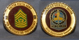 Sgt Major Army Sustain Cmd Challenge Coin Outstanding Performance From Cmd - $17.81