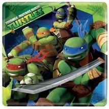 "Teenage Mutant Ninja Turtles Large9"" Square Paper Plates 8 Pieces Party ... - $12.31"