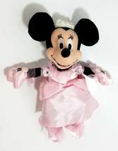 "Rare Disney Minnie Mouse Pink Princess Minnie Pink Dress 10"" Bean Bag Plush - $12.99"