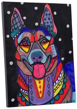 "Pingo World 0413Q3IXGPY ""Heather Galler Belgian Malinois Dog"" Gallery Wr... - $43.51"