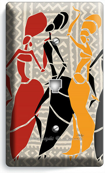 NATIVE AFRICAN TRIBAL WOMEN DANCING PHONE TELEPHONE WALL PLATES COVER ROOM DECOR